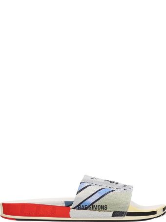 Adidas By Raf Simons Grey Rubber Sandals