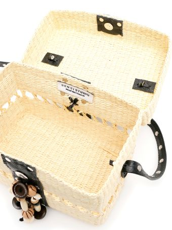Sensi Studio Wicker Box Bag
