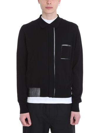 OAMC Black Wool Cardigan