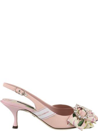 Dolce & Gabbana Sling Back With Lilium Detail
