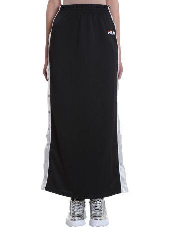 Fila Faustina Long Buttoned Black Skirt