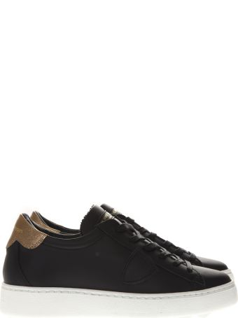 Philippe Model Black Leather Sneakers