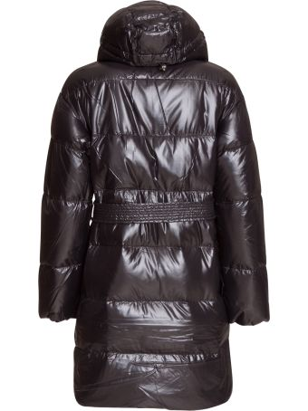 Duvetica Hooded Belted Long Puffer Jacket