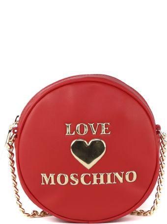 Love Moschino Red Pvc Circle Bag