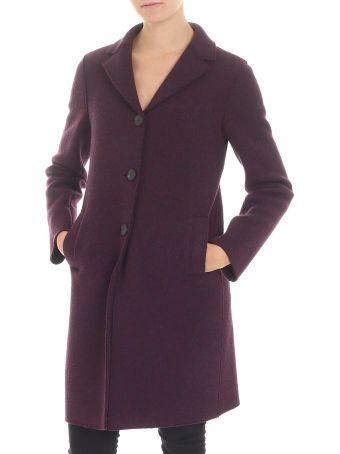 Harris Wharf London Purple Virgin Wool Coat