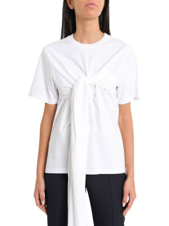 Cedric Charlier T-shirt With Knotted Drape