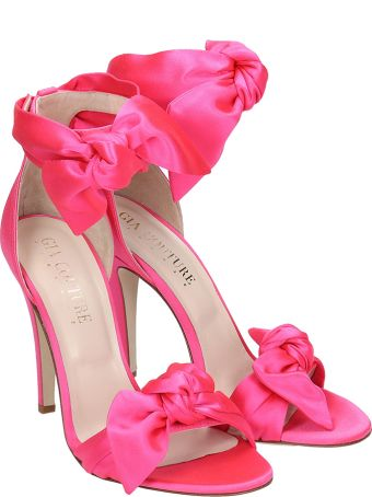 GIA COUTURE Sandals In Fuxia Satin
