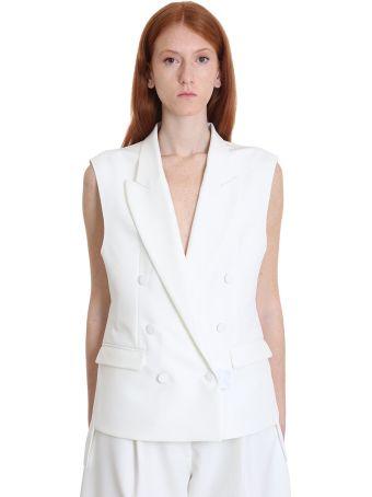 Maison Flaneur Blazer In White Polyester