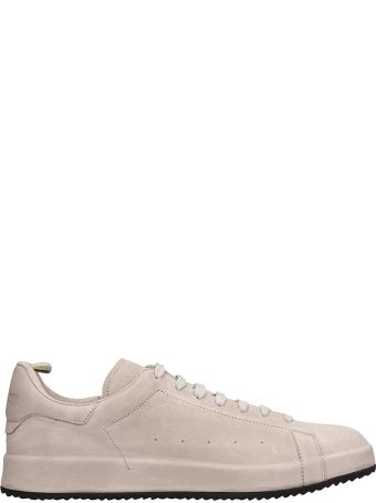 Officine Creative Grey Leather Ace Sneakers