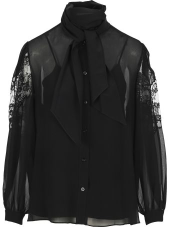 Givenchy Scarf Collar Shirt