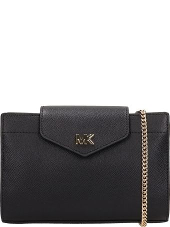 Michael Kors Black Leather Lg Cnv Xbody Bag