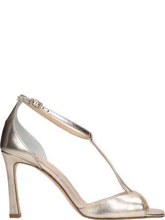 The Seller Platinum Patent Leather Sandals