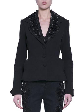 Amen Embroidered Crepe Jacket