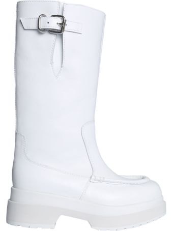 MM6 Maison Margiela Leather Boots