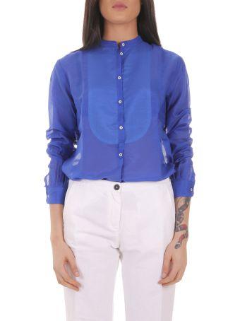 Massimo Alba Blue Violet Shirt