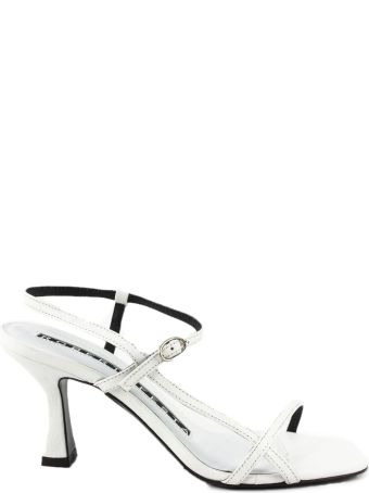 Roberto Festa White Leather Geneve Sandal