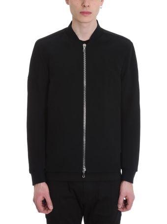 Attachment Bomber Black Polyester Jacket