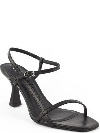 Roberto Festa Black Leather Geneve Sandal