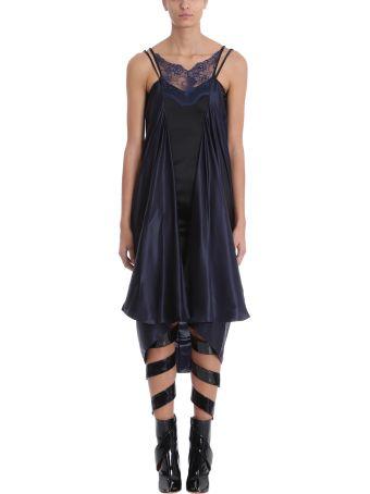 Y/Project Blue Black Silk Slip Dress