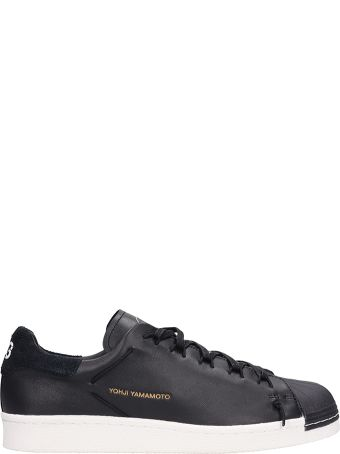 Y-3 Black Leather Super Knot Sneakers