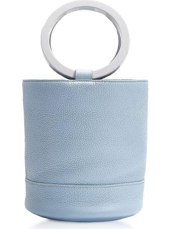 Simon Miller S804 Grey Petrol Leather Bonsai 20 Cm Bag