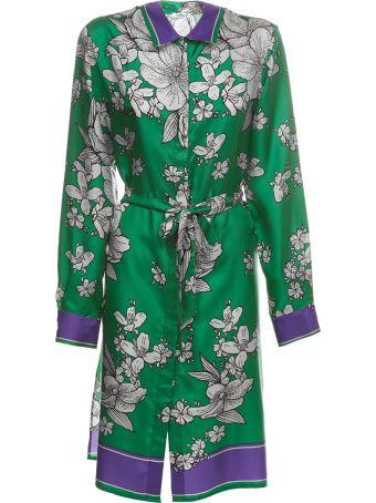 Parosh Floral Print Long Dress