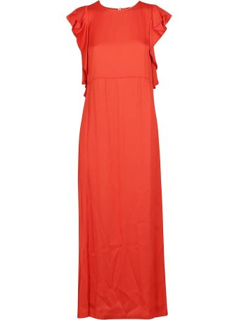 SEMICOUTURE Ruffled Sleeve Long Dress