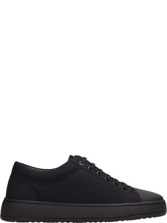 Etq Kurashiki Black Cotton Sneakers