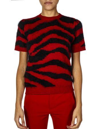 Dondup Red & Black Wool Jumper