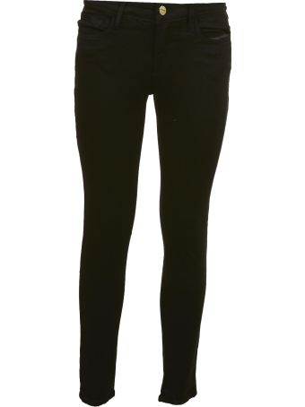Frame Mid Rise Skinny Jeans