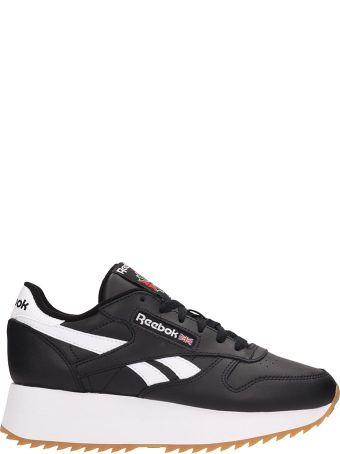 Reebok Black Leather Sneakers