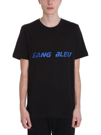 OMC Sang Bleu Black Cotton T-shirt