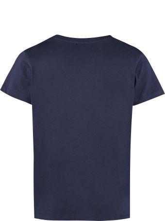Maison Labiche Embroidered Cotton Boyfriend T-shirt