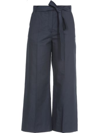 Max Mara Cotton And Linen Trousers