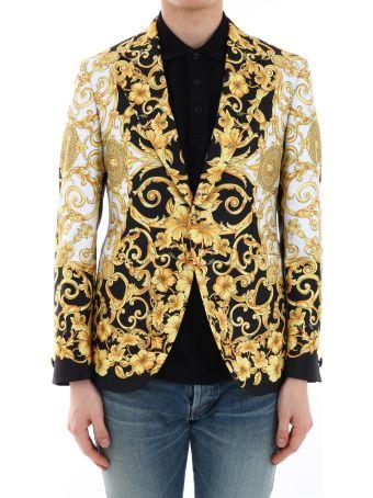 Versace Blazer Gold Hibiscus