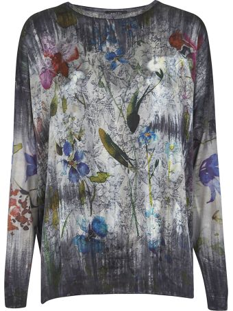 Avant Toi Floral Printed Sweater