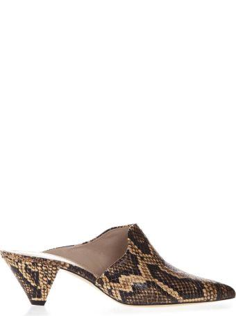 Aldo Castagna Snake Leather Mules