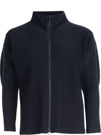 Pleats Please Issey Miyake Pleats Please By Issey Miyake Pleated Crepe Zip-up Jacket