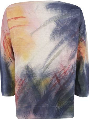 f cashmere Oversized Printed Jumper
