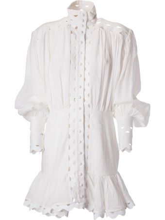 Zimmermann Ninety-six Wave-trim Mini Dress