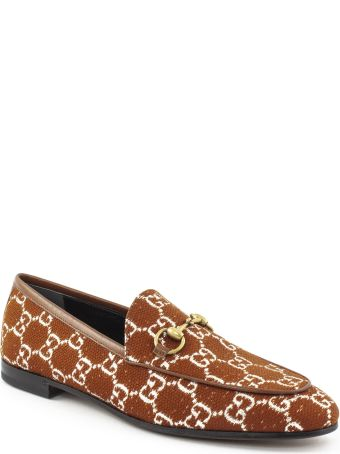 Gucci Gucci Jordaan Gg Canvas Loafer