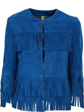 Unfleur cobalt blue suede jacket