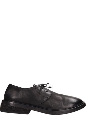 Marsell Pomicione Black Leather Lace Up