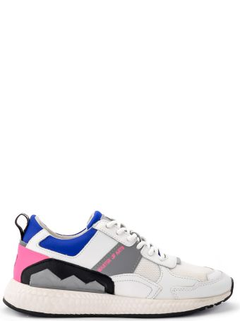M.O.A. master of arts Multi-material White And Blue Moa Sneakers