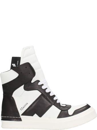 Cinzia Araia White Black Leather Sneakers