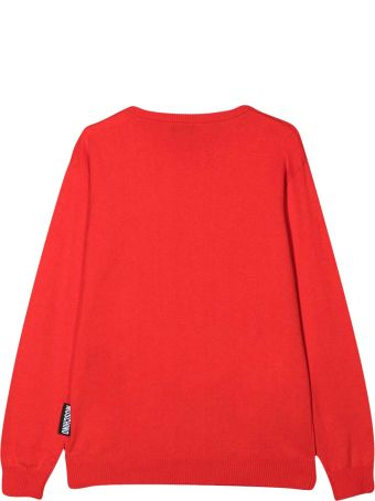 Moschino Red Teen Sweatshirt