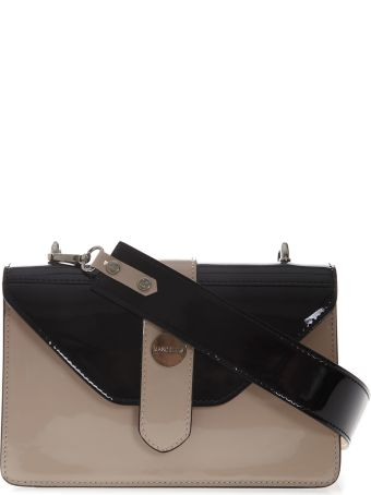 Marc Ellis Margaret Shoulder Bag In Black And Phard Leather