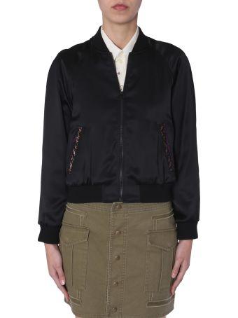 Saint Laurent Teddy Jacket In Satin