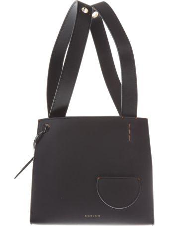 DANSE LENTE Black Leather Tote Bag Margot
