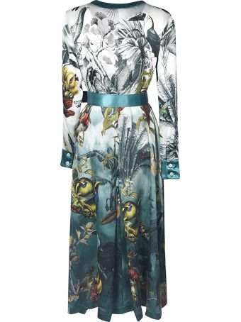 For Restless Sleepers Multiple Print Belted Long Dress